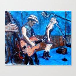 Rockabilly Musicians Canvas Print