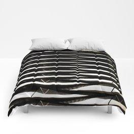 Architectural monochrome pattern Comforters