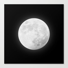 CHALK WHITE MOON Canvas Print