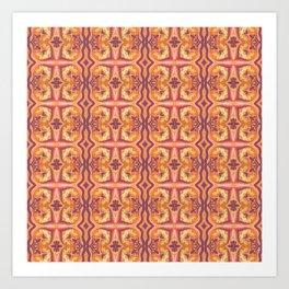 Summer Colors Pattern 3 Art Print