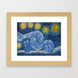 Starry Tardis Night Framed Art Print