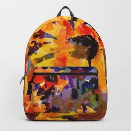 Golden Sunflower Garden Backpack