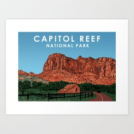 Capitol Reef National Park Art Print