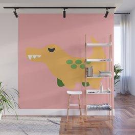 Sassy Cute Crocodile Wall Mural