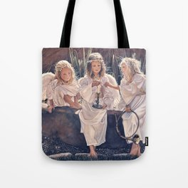 Reproduction Candle in the wind Steve Hanks Tote Bag