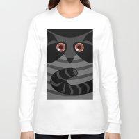racoon Long Sleeve T-shirts featuring racoon - raccoon  by ArigigiPixel