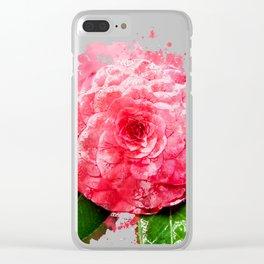 Camellia Clear iPhone Case