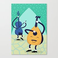 arabic Canvas Prints featuring Arabic tunes by Nitzan Klamer
