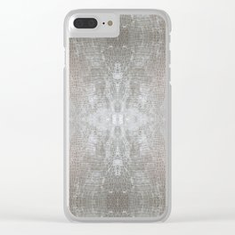 Silver Velvet Snake Pattern Clear iPhone Case