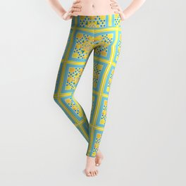 Sunflower. Ukrainian style. Leggings