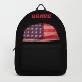 Brave and free USA US America star spangled banner United States Backpack