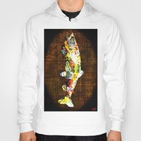 whisky Hoodies featuring FISH with a side of Bourbon Please by Saundra Myles