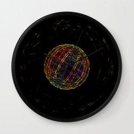 Neon String Ball Wall Clock