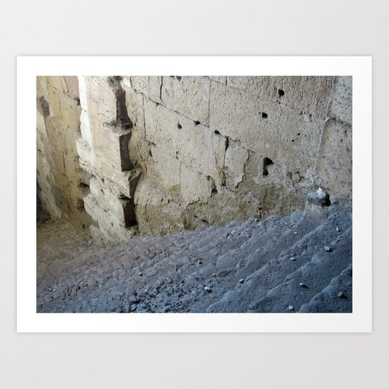 Stairway from the past. Art Print