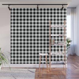 Modern black white picnic 80s print pattern Wall Mural