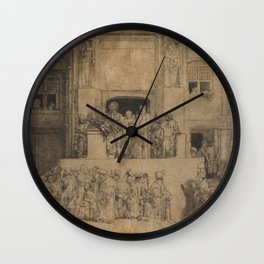 Rembrandt - Christ Presented to the People (1655) Wall Clock