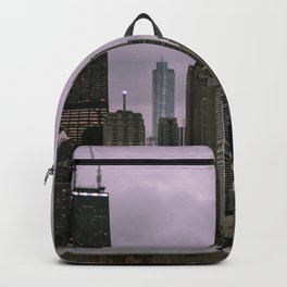 Purple Chicago Evening Backpack