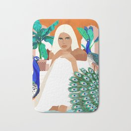 Indian Vacay #illustration #painting Bath Mat