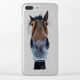 Happy Horse ' HAPPY HARRY ' by Shirley MacArthur Clear iPhone Case