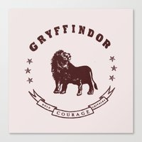 gryffindor Canvas Prints featuring Gryffindor House by Shelby Ticsay