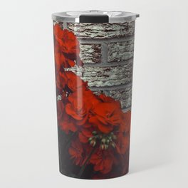 Red bricks red flowers Travel Mug