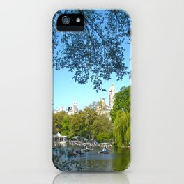 The boathouse at Central Park - NYC iPhone Case