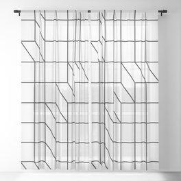 Cityscape Sheer Curtain