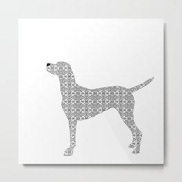 Vizsla Dog in Floral design  Metal Print