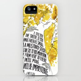 Mustard Seed Faith Tree - Matthew 17:20 iPhone Case