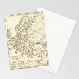 Vintage Map - Spruner-Menke Handatlas (1880) - 11 Napoleonic Europe, 1810 Stationery Cards