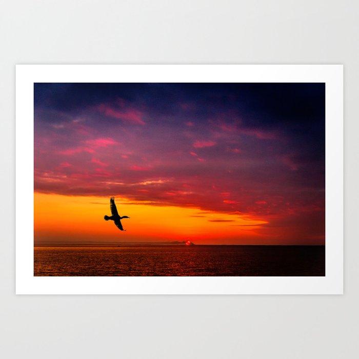 Fly to paradise Art Print