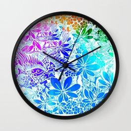 Flying Through Rainbows Wall Clock