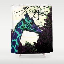 Alien Giraffe Has Landed Shower Curtain