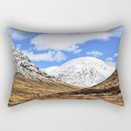 Spring in Glen Etive, Scottish highlands Rectangular Pillow