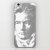 beethoven iPhone & iPod Skins featuring Beethoven Portrait  by Cool Prints