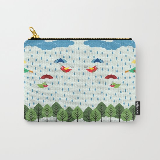 Birds in the rain. Carry-All Pouch