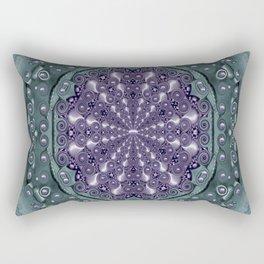 Star and flower mandala in wonderful colors Rectangular Pillow