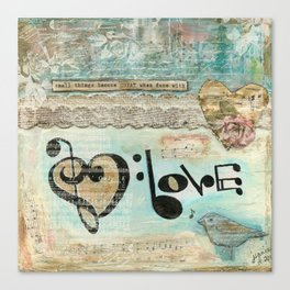 love note Canvas Print