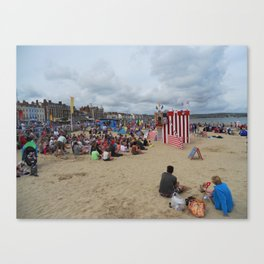 Punch & Judy Show on Weymouth Beach Canvas Print