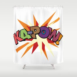 Comic Book Pop Art Sans KA-POW Shower Curtain