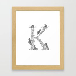 Bearfabet Letter K Framed Art Print