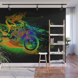 Race to the Finish! - Motocross Racer Wall Mural