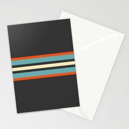 Classic Retro Stripes Amikiri Stationery Cards