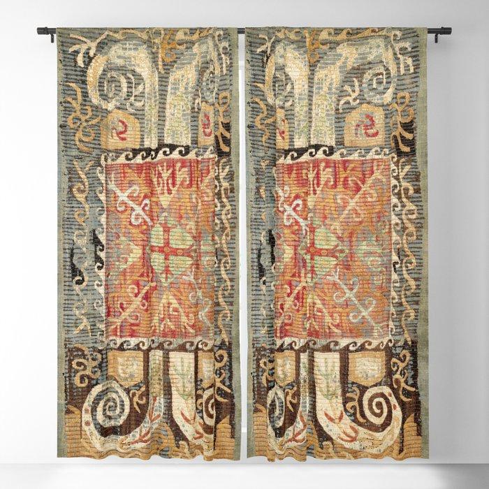 Kaitag 18th Century Caucasian Embroidery Print Blackout Curtain