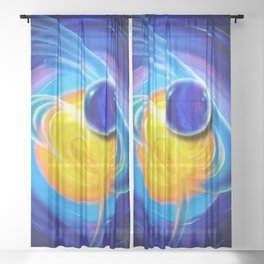 Abstract perfection - Circle Sheer Curtain