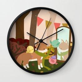 Autumn Wall Clock