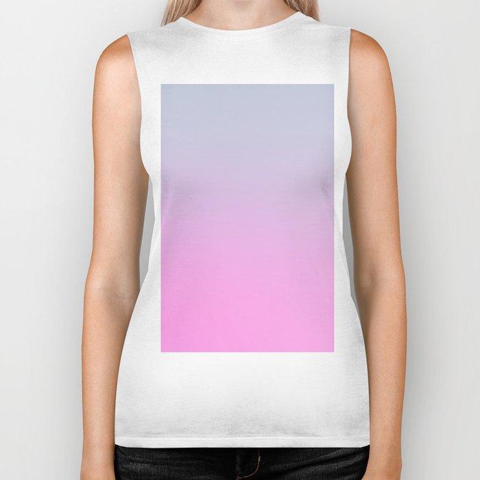 UNLIKE OTHER - Minimal Plain Soft Mood Color Blend Prints Biker Tank