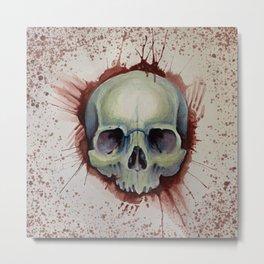 Murder Skull  Metal Print