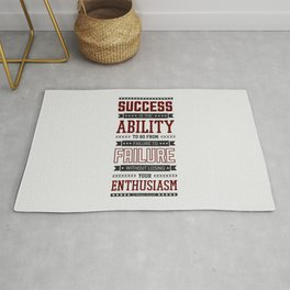 Lab No.4 Success is the ability Sir Winston Churchill Inspirational Quotes Rug