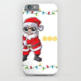 Santa Floss Like A Boss Christmas Boys Kids Xmas Flossing T-Shirt iPhone Case